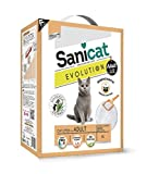 Brand New Sanicat evolution 6 Ltr: Prevents unwanted odours by combining ultra clumping mineral properties with Yucca