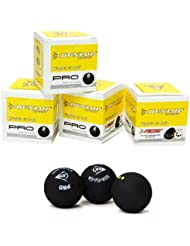 Dunlop Pro double yellow Zwei Dot Squash Ball (Pack von 3)