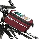 ENCOCO Tube Bag Fahrrad Telefon Tasche Fahrrad Wasserdicht Sensitive Touch-Handy Fahrrad Tasche, Rot