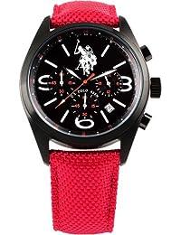 Reloj U.S. Polo Assn. Mistral usp4198rd Piel Rojo Cronógrafo