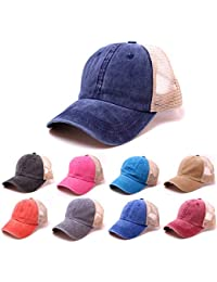 Elecenty Cappello regolabile per berretto da baseball Viso estivo denim da  donna f4fc3e96f616