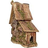 OTENGD Holz Vogelhaus Bauen Vogelhaus natürliche dekorative bietet Vogelunterhaltung in Ihrem eigenen Hinterhof Komfort-Berei