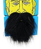 Y-BOA Barbe Fausse Moustache Pour Boule Costume Drôle Halloween Déguisement Cosplay Homme Noir