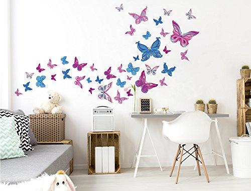 Kinderzimmer ideen für mädchen schmetterling  Babyzimmer Deko Mädchen: Amazon.de