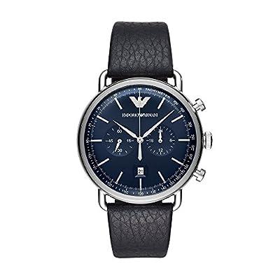 Emporio Armani Men's Analogue Quartz Watch with Leather Strap AR11105