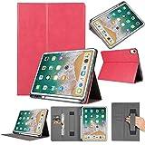 2018 Hülle Folio Leather Wallet Card Stand Case Schutzhülle mit Stifthalter für iPad Pro 12.9in (Pink)