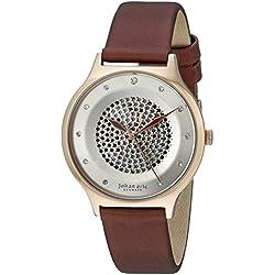 Johan Eric Women's JE1600-09-001.14 Orstead Analog Display Japanese Quartz Brown Watch