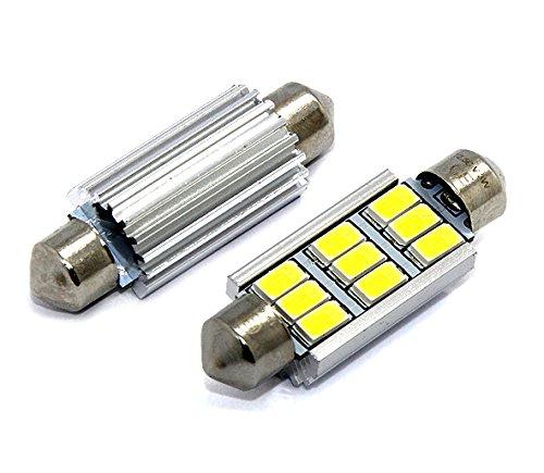 Preisvergleich Produktbild 1x -TÜV FREI- LED SMD CANBUS LAMPE SOFFITTE 42MM 9 SMD 3W CE E9-ZEICHEN KALTWEIß Leselicht Kennzeichen- Innen- Fußraumbeleuchtung