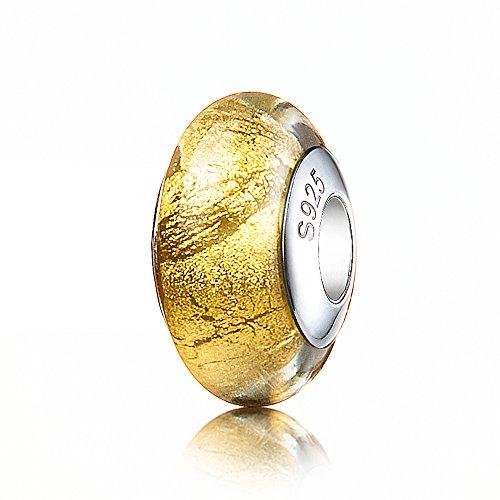 ATHENAIE in argento Sterling 925, con ciondoli e Gole Foil Kit per creare braccialetti e collane di Pandora 24kt Gold Foil AMG39