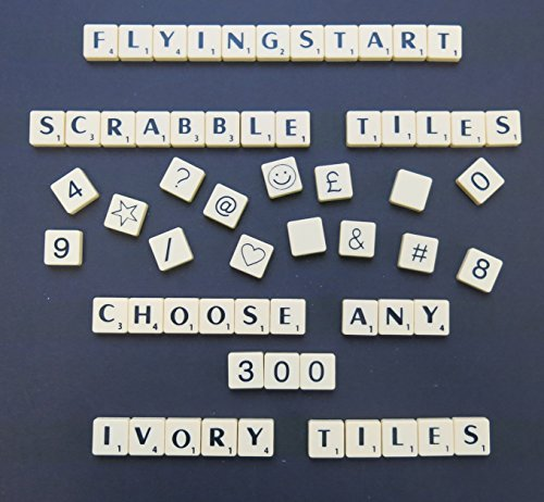 Pick and Mix Ivory Scrabble tiles - Choose your own Letters (Pack of 300)