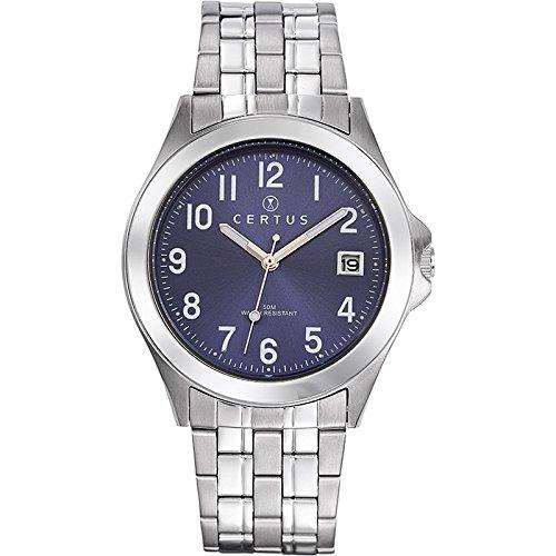Certus  - Reloj de cuarzo para hombre, correa de acero inoxidable color plateado