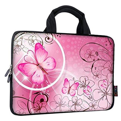 Ultra-portable Tablet-pc (iColor Universal 9,71010.125,9cm Ultra-Portables Neopren Reißverschluss Notebook Ärmel Tasche Fall Cover für Apple iPad eBook Netbook Laptops Tablets PCs Readers Pink Butterfly)