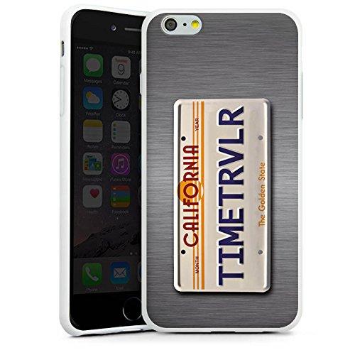 Apple iPhone X Silikon Hülle Case Schutzhülle Nummernschild Future Zeitreise Silikon Case weiß