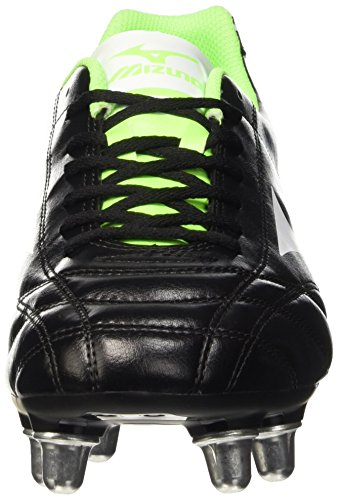 Mizuno Monarcida Rugby Si- Scarpe da rugby Uomo Black (Black/White/Green Gecko)