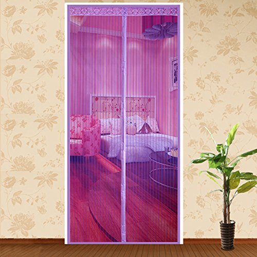 Türen mit magneten bildschirm,Velcro magnetische tür siebgewebe Türen für häuser bildschirm Sommer] Der moskito Schlafzimmer Magnetisch Einfache installation Bildschirm Tür vorhang-F 170x240cm(67x94inch)