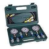 Manometer, Bagger Hydraulik Druck Test Kit mit Prüfschlauch Kupplung und Manometer für Hydraulikdrucktests von Baumaschinen
