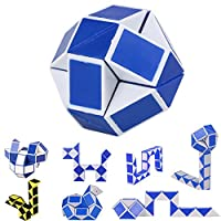 Cloud ROM_toy 2019 Hot Cool Snake Magic Variety Popular Twist Kids Game Transformable Gift Puzzle, Magic Cube Puzzles Educational Toy for Kids, for Girls and Boys (24-segment section, Random