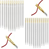 24 Pcs Needles, One Second Easy Thread Self Threading Needles for DIY Needlework Normal Type and Sewing