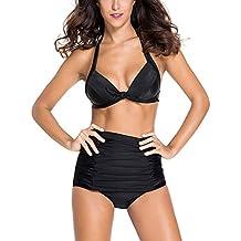 MinYuocom Mujer Retro Push Up Conjunto de bikini Beachwear Bañador Niña Traje de Baño Bikini MZF4607