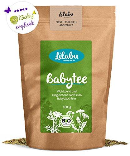 Lilabu Babytee (100g, Bio) | Bio-Bäuchleintee | 100% Bio-Zutaten, ohne Zusätze | reines Naturprodukt nach altem Hebammenrezept- empfohlen von miBaby.de