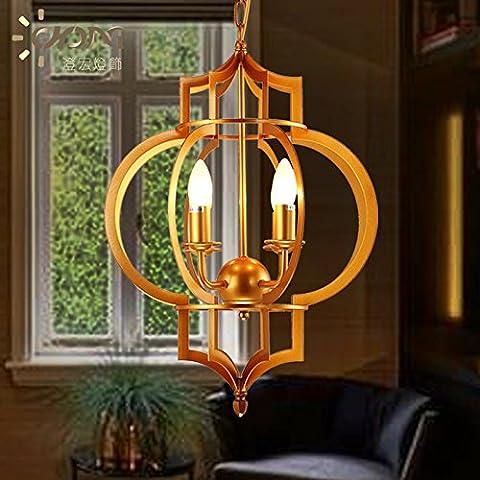 Ancernow E27 caldo creativo moda lampade a sospensione Lampadari Industriali Lanterna dorata oro