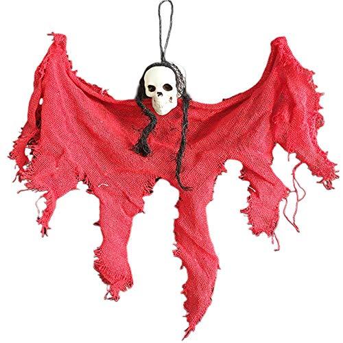Sensecrol Decoraciones de Halloween Accesorios Colgante de simulación Ambiente de Terror Adornos de Encanto Sala de Calaveras Bar de la casa encantada Fiesta de KTV