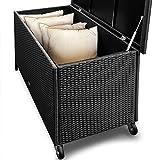 Deuba Auflagenbox | Poly Rattan | Rostfreies Aluminiumgestell | Rollbar| Hubautomatik | Gartentruhe Gartenbox Kissenbox Kissentruhe - 5