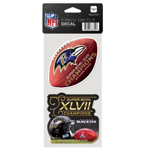 NFL Baltimore Ravens Super Bowl Hardcover Champions 4-by-8-inch die cut Aufkleber (Baltimore Ravens-aufkleber)