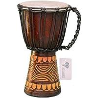 kascha–Profesional 30cm–Djembé (Drum Busch África de carga de Style talladas a mano de madera de caoba Diseño 6