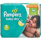 Pampers Baby Dry Windeln, Gr.5 (Junior) 11-23 kg, Monatsbox, 144 Stück