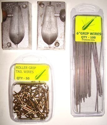 TraceAce Tackle 8Oz Uptide Weight Mould Kit,Weight Moulds,Lead Moulds