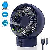 Ventilatore USB, Gifort Mini Ventilatore Portatile, Silenzioso Ventilatore da Tavolo, con velocità regolabile a 180 gradi, per Scrivania Casa Viaggiare Campeggio, Alimentato via USB