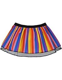 Childs Size Rainbow Fancy Dress Pleated Tutu Skirt