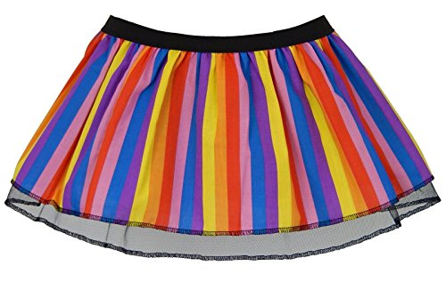 Childs Size Rainbow Fancy Kleid Plissee Tutu (Morphsuit Rainbow)