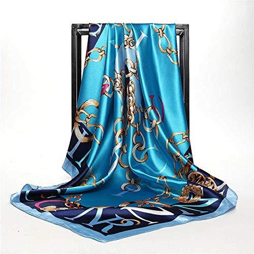 GYXYYF Sommer Kopf Seidenschal Frauen Designer Quaste Print Bandana Vintage Satin Platz Muslimischen Hijab Schals Böhmischen Schals -
