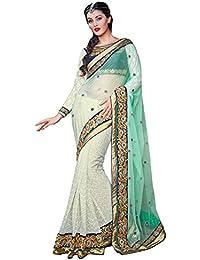 Angel Fashion Net Embroidered Saree