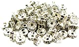 50pcs 6mm Silver Flower Rhinestone Rondelle Bead Spacer HOT