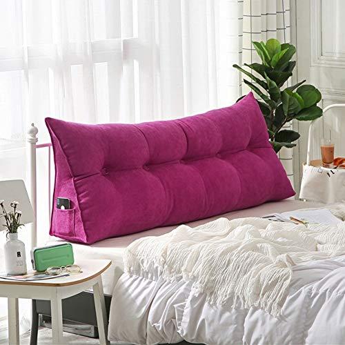 QIANCHENG-Cushion Kopfteil Kissen Bett Rückenkissen Rückenlehne Für Bett Bettkeile Keilkissen Palettenpolster Dreieckig Doppelt Taillenschutz, 8 Farben (Color : 6#, Size : 150 x 20 x 50 cm) -