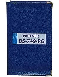 Syl'la - Funda de protección de piel sintética para documentación del coche, personalizable con matrícula, azul (Azul) - cg-bleu-imm