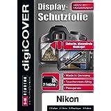 DigiCover B3435 Film de Protection d'écran pour Nikon 1 J3 Transparent