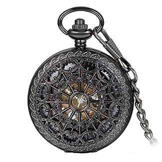 Avaner-Klassiker-Taschenuhr-im-Retro-Look-Analog-Handaufzugwerk-Antike-Uhr-mit-rmischen-Ziffern-Kette-fr-Herren-Damen-als-Halloween-Schmuck-Weihnachten-Geschenk