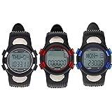 preadvisor (TM) 3ATM Wasserdicht Sport Puls Herzfrequenz Monitor Fitness Übung Armbanduhr Schrittzähler Kalorien Stoppuhr Radfahren im Freien Armbanduhr, rot