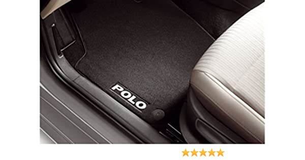 Volkswagen Premium Fussmatten VW Polo 6R 6C vorn hinten Satz Velours Stoffmatten