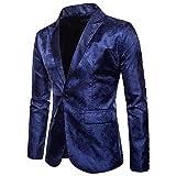 Fyou Charm Men's Casual One Button Fit Suit Blazer Coat Jacket Tops Blouse