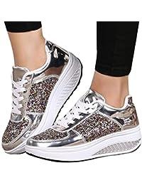 266872179edda Beikoard Sneakers Donna con Zeppa Paillettes Scarpe Stringate Scarpe  Fashion Scarpe Sportive da Donna