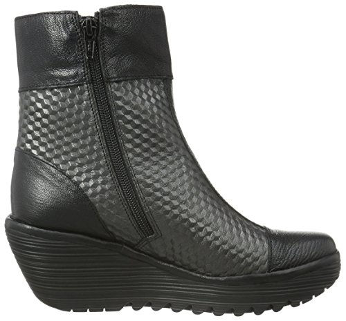 Fly London Yoke670fly, Stivaletti Donna Nero (Black/graphite 005)
