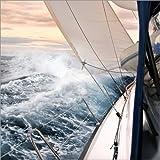 Posterlounge Lienzo 30 x 30 cm: Sailing Through The Storm de Jan Schuler - Cuadro Terminado, Cuadro sobre Bastidor, lámina terminada sobre Lienzo auténtico, impresión en Lienzo