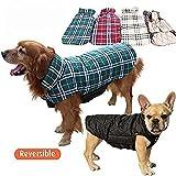 Sneff Trade Hundemantel Hundejacke Doppelseitig Reversible Grid Hundebekleidung Hunde Wintermantel Hundepullover Winterjacke Pet Dogs cats Jackets Coats(Rot, Beige, Braun, Grün) - 6