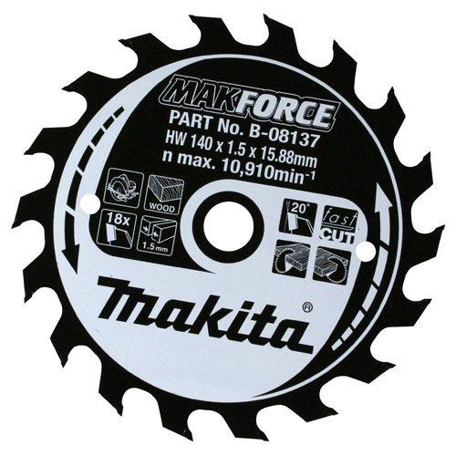 Advanced Makita Makforce Kreissägeblatt, 160 mm x 24 Zähne, 20 mm Durchmesser, 1 Stück]
