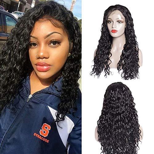 Maxine 8A Water Wave Lace Front Perücken 130% Dichte brasilianisches Remy Echthaar verstellbar Perücken mit Baby Haar für schwarz Frauen